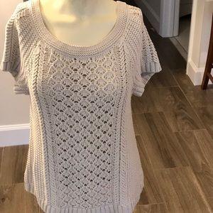 Ann Taylor Loft Cable Knit SS Sweater Size M